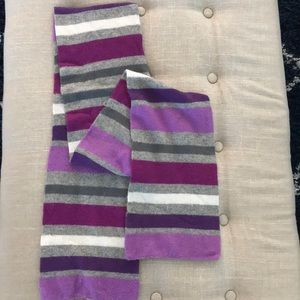 Purple/Gray striped scarf